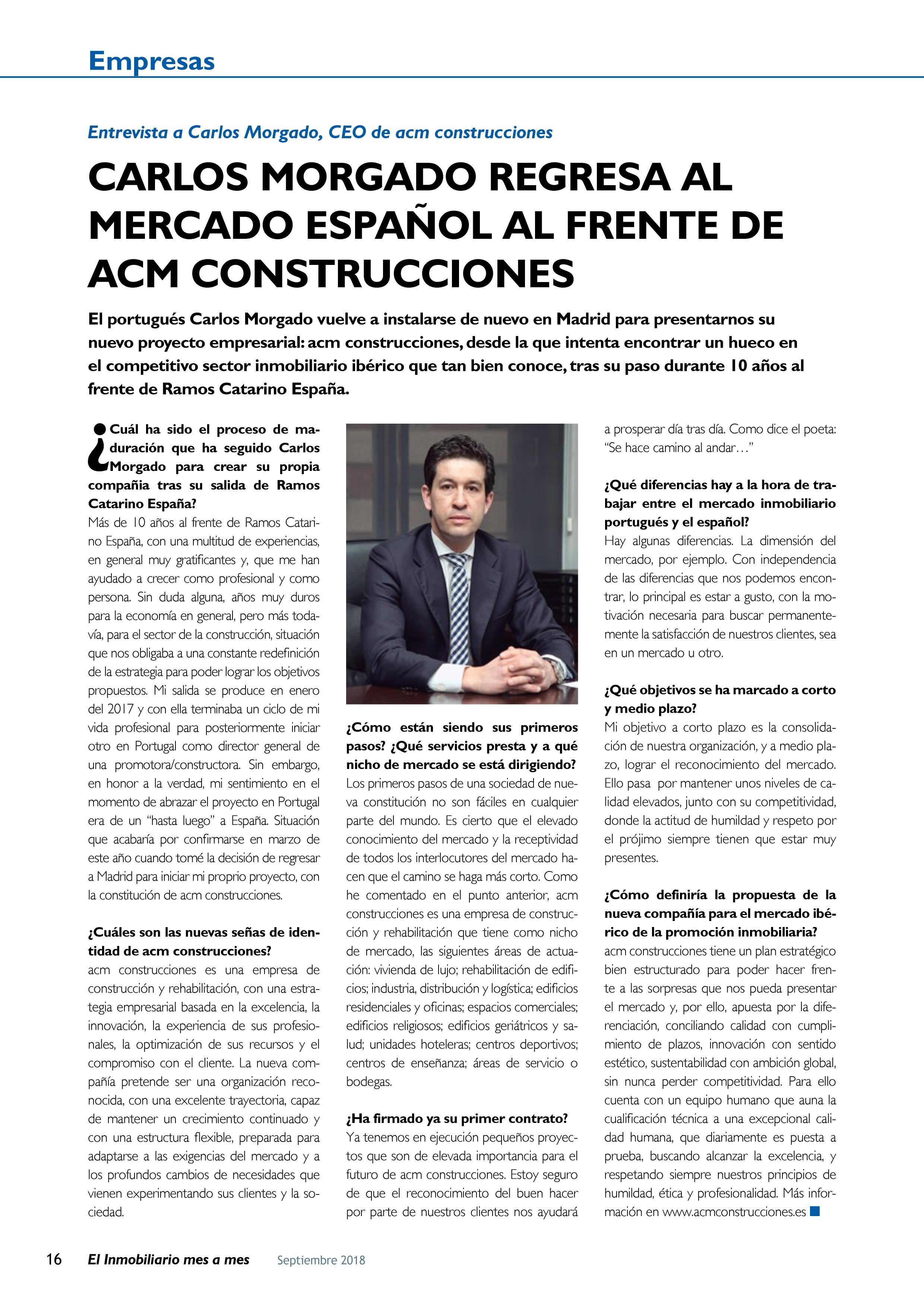 Entrevista a Carlos Morgado